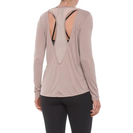 Tahari Mesh Racerback Shirt - Long Sleeve (For Women) in Primrose
