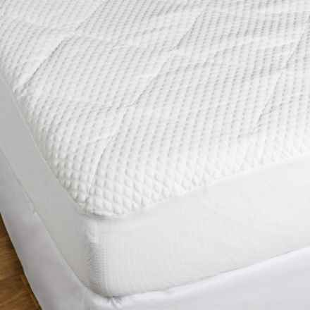 Tahari Mini Diamond Knit Mattress Pad - King in See Photo - Closeouts