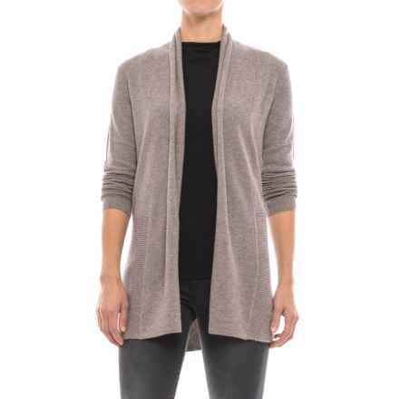 Tahari Open-Front Cashmere Cardigan Sweater (For Women) in Taupe Night Heather - Closeouts