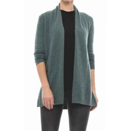 Tahari Open-Front Cashmere Cardigan Sweater (For Women) in Wreath Heather - Closeouts
