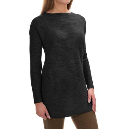 Tahari Ottoman Boat Neck Sweater - Merino Wool (For Women) in Black - Closeouts