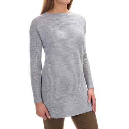 Tahari Ottoman Boat Neck Sweater - Merino Wool (For Women) in Light Melange - Closeouts