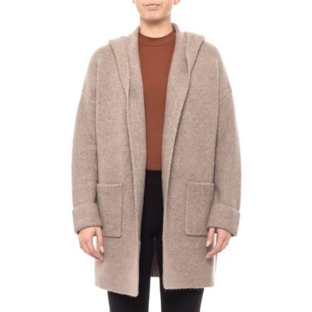 122efdf3893bee Tahari Oversized Hooded Cardigan Sweater (For Women) in Dark Truffle  Heather - Closeouts