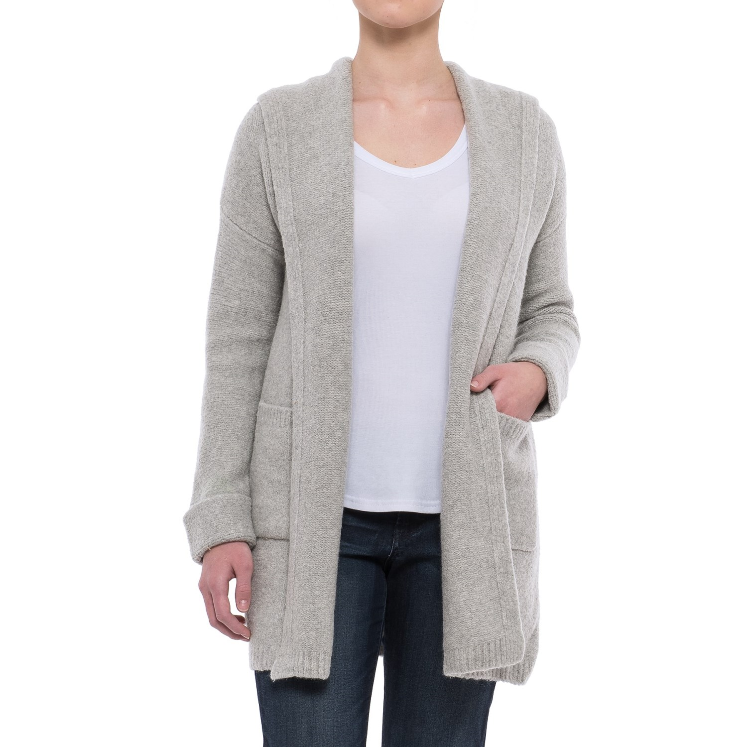 Tahari Oversized Hooded Cardigan Sweater (For Women) - Save 59%