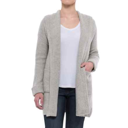 Tahari Oversized Hooded Cardigan Sweater (For Women) in Pebble Heather - Closeouts