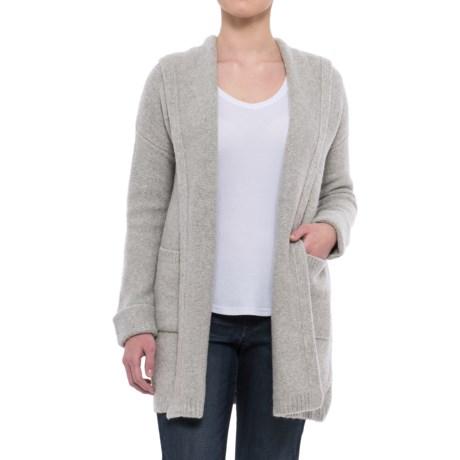 Tahari Oversized Hooded Cardigan Sweater (For Women) in Pebble Heather