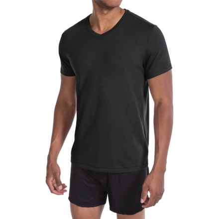 Tahari Pima Cotton Blend Jersey T-Shirt - V-Neck, Short Sleeve (For Men) in Jet Black - Closeouts