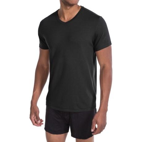 Tahari Pima Cotton Blend Jersey T-Shirt - V-Neck, Short Sleeve (For Men) in Jet Black