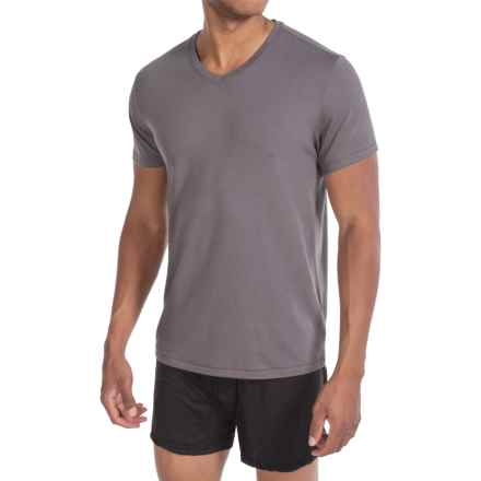 Tahari Pima Cotton Blend Jersey T-Shirt - V-Neck, Short Sleeve (For Men) in Volcanic - Closeouts