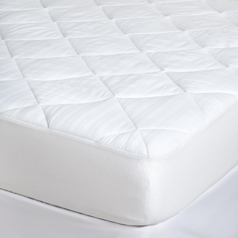 Tahari Pima Cotton Stripe Mattress Pad King 400 Tc