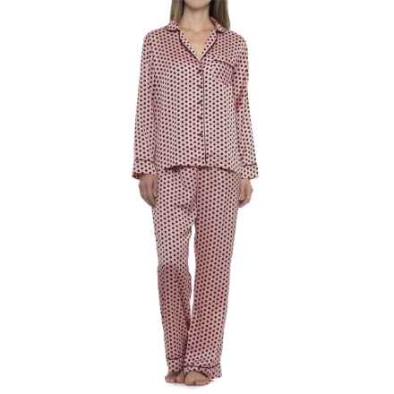Tahari Polka-Dot Pajamas - Long Sleeve (For Women) in Pink/Black - Closeouts