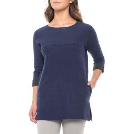 40dfefc2369fa8 Clearance. Tahari Raw-Edged Shirt - Long Sleeve (For Women) in Dark Denim  Heather