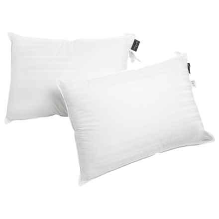 Tahari Renn Stripe Pillows - Super Standard/Jumbo, 2-Pack in White - Closeouts