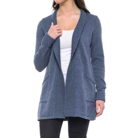 Tahari Ribbed Open Cardigan Sweater (For Women) in Denim Chambray Marl - Closeouts