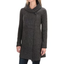 Tahari Shawl Collar Long Cardigan Sweater (For Women) in Grey/Black - Closeouts