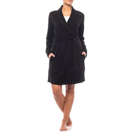Tahari Side Seam Pocket Robe (For Women) in Black - Closeouts d28b1ff68