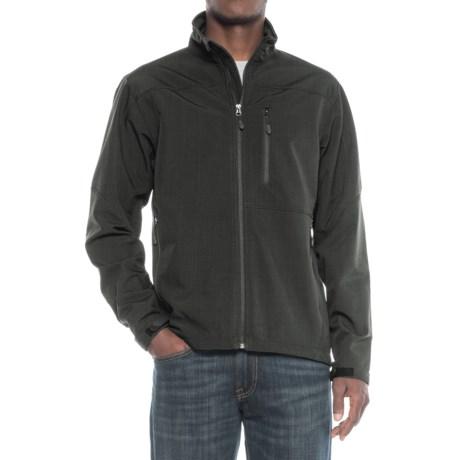Tahari Soft Shell Jacket (For Men) in Asphalt Heather Print