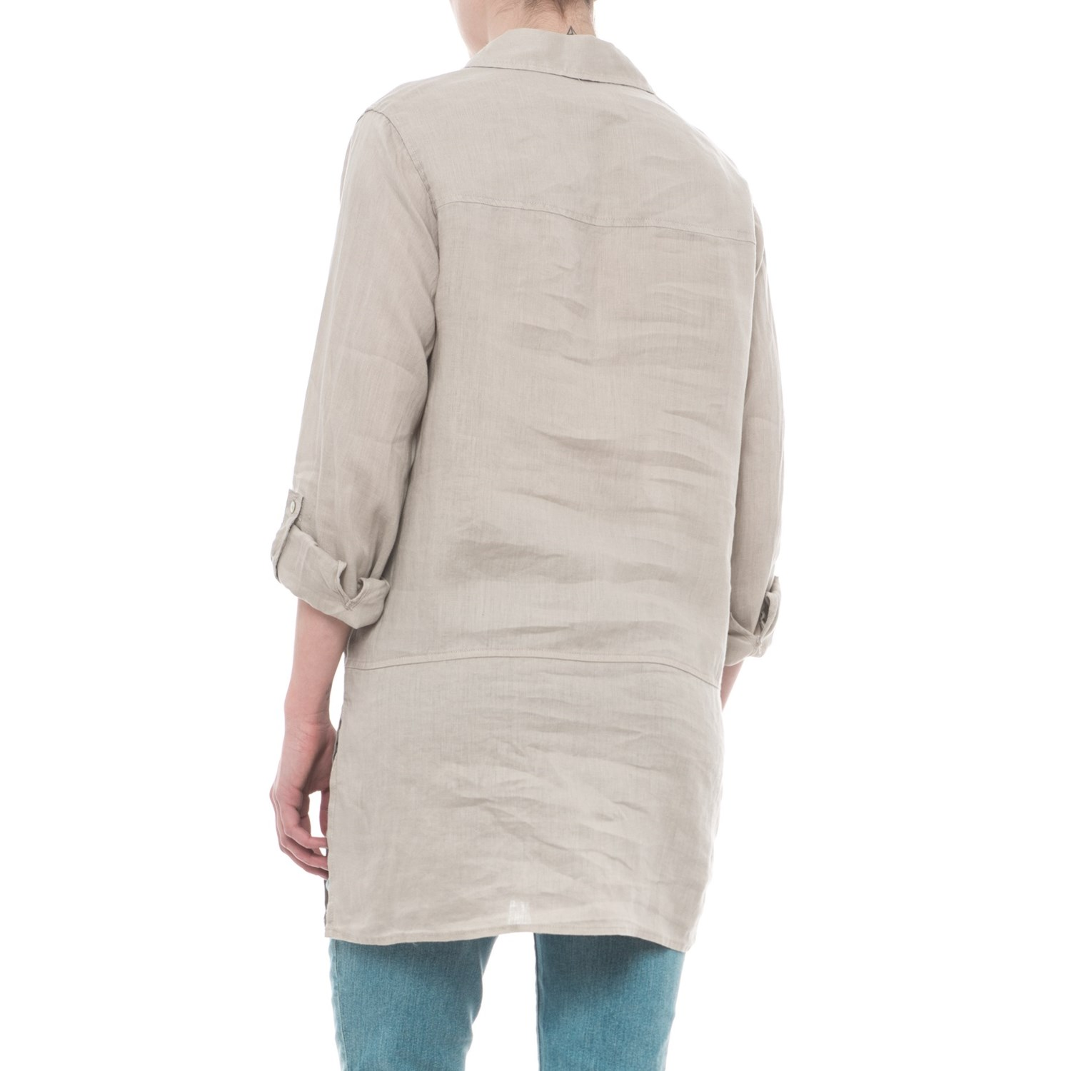 0025ab650da Tahari Solid Linen Tunic Shirt - Long Sleeve (For Women)