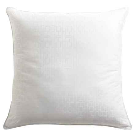 Tahari Square Down-Alternative Dobby Pillow - Euro, 300 TC in See Photo - Closeouts