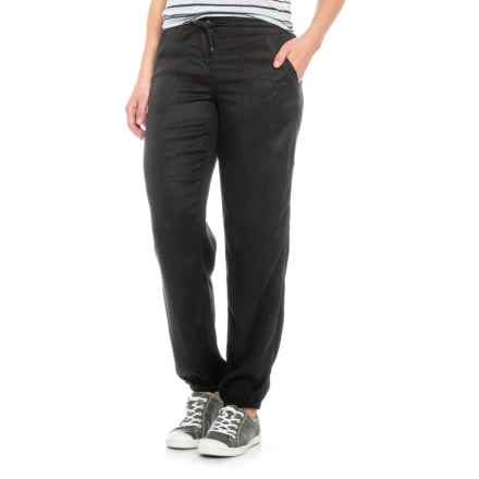 Tahari Stitch Front Pocket Joggers (For Women) in Black - Closeouts