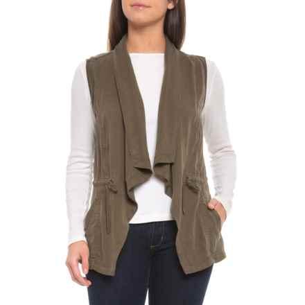 f0ae39ce39c Tahari TENCEL® Drape Front Vest (For Women) in Loden - Closeouts