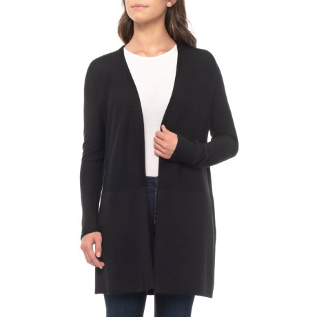 690b3bc846 Tahari Textured Cardigan Sweater - Merino Wool (For Women) in Black