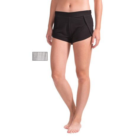 Tahari Tulip Shorts - 2-Pack (For Women) in Solid/Black/ Light Heather Grey