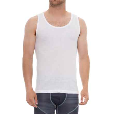 Tahari White A Tank Tops - 3-Pack (For Men) in White - Closeouts