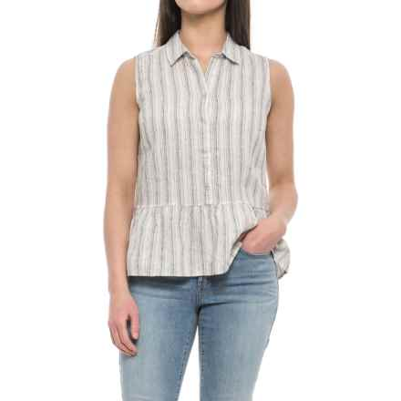 Tahari Yarn-Dyed Stripe Linen Shirt - Sleeveless (For Women) in Skinny Stripe - Closeouts