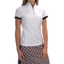 Tail Activewear Convert Collar Shirt - Zip Neck, Short Sleeve (For Women) in White - Closeouts