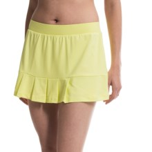Tail Activewear Jumpy Pleated Skort - Built-In Shorts (For Women) in Citrus Lemon - Closeouts