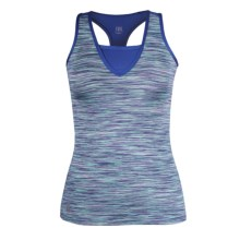 Tail Activewear Krysia Two-Fer Tank Top - V-Neck, Racerback (For Women) in La Mer - Closeouts