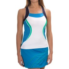 Tail Activewear Maddie Tank Top - Racerback (For Women) in White/Ocean Blue/Navy - Closeouts