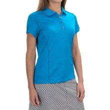 Tail Activewear Rounded-Collar Shirt - Short Sleeve (For Women) in Diva Blue - Closeouts