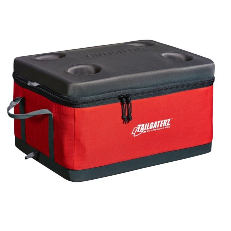 Tailgaterz Collapsible Cooler in Red