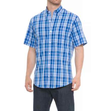 TailorByrd Button-Down Collar Shirt - Short Sleeve (For Men) in Royal Blue/White - Overstock