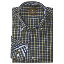 Tailorbyrd Donjay Check Shirt - Button Down, Long Sleeve (For Men) in Navy - Closeouts