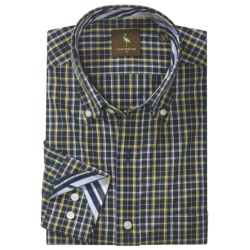 Tailorbyrd Donjay Check Shirt - Button Down, Long Sleeve (For Men) in Navy