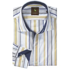 Tailorbyrd Donjay Multi-Stripe Shirt - Spread Collar, Long Sleeve (For Men) in Yellow - Closeouts