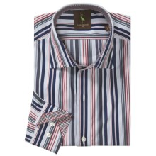 Tailorbyrd Donjay Stripe Shirt - Spread Collar, Long Sleeve (For Men) in Red - Closeouts