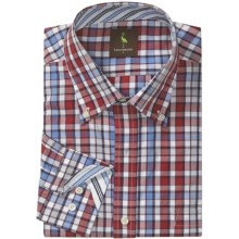 Tailorbyrd Gingham Multi-Check Sport Shirt - Long Sleeve (For Men) in Blue/Red/White - Closeouts