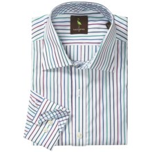 Tailorbyrd Multi-Stripe Sport Shirt - Long Sleeve (For Men) in Red/Multi - Closeouts