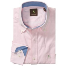 Tailorbyrd Solid Oxford Sport Shirt - Long Sleeve (For Men) in Pink - Closeouts
