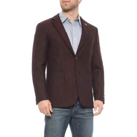 TailorByrd Wool Sport Coat (For Men) in Burgundy - Closeouts