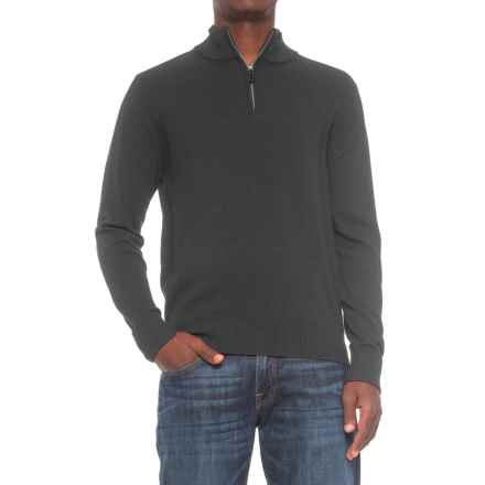 TailorByrd Zip Neck Sweater (For Men) in Black - Closeouts