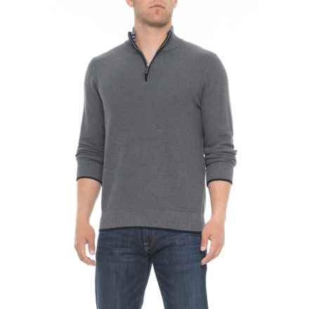 TailorByrd Zip Neck Sweater (For Men) in Heather Grey - Closeouts