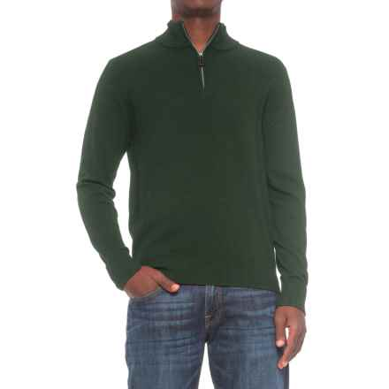 TailorByrd Zip Neck Sweater (For Men) in Hunter - Closeouts