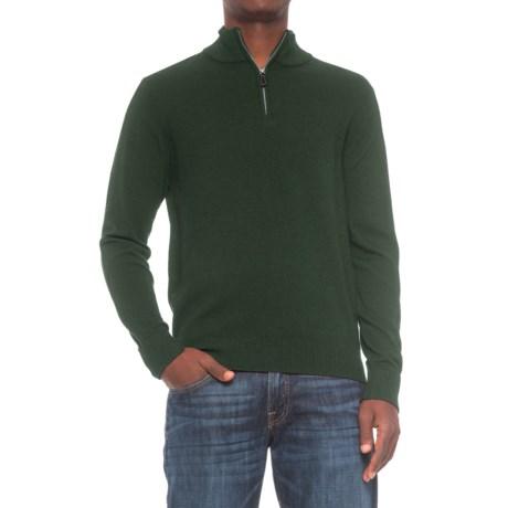TailorByrd Zip Neck Sweater (For Men) in Hunter