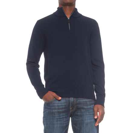 TailorByrd Zip Neck Sweater (For Men) in Navy - Closeouts
