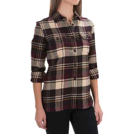 Tall Pines by Woolrich Heavyweight Flannel Shirt - Long Sleeve (For Women) in Wine - Closeouts